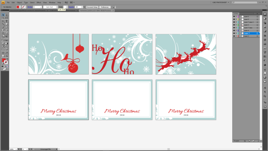 Christmas Card Set - Silhouette Cameo Freebies