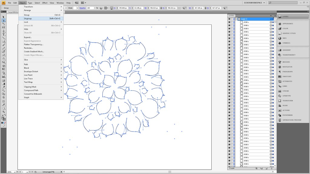 Design a Flower Cutout in Adobe Illustrator to Use With Your Silhouette Machine Step4d