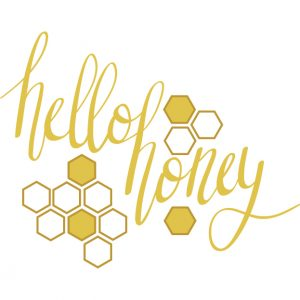 Silhouette Cameo Freebie Hello Honey Lettered Design