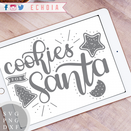 Cookies for Santa Silhouette Cameo Freebie