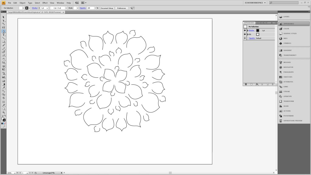 Design a Flower Cutout in Adobe Illustrator to Use With Your Silhouette Machine Step3B