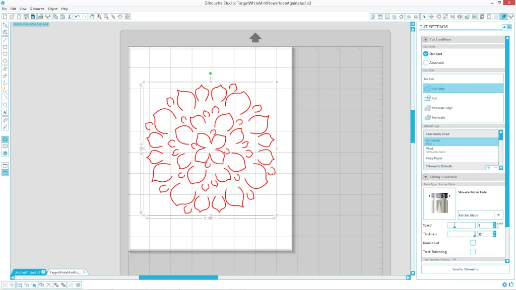 Design a Flower Cutout in Adobe Illustrator to Use With Your Silhouette Machine Step5b