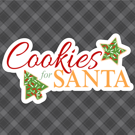 Cookies for Santa Silhouette Cameo Free Cut File