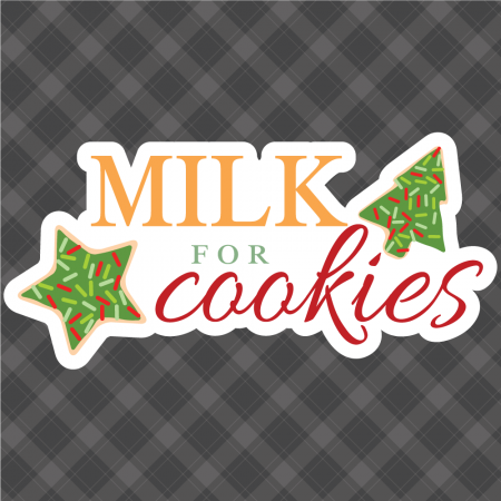 Milk for Cookies Silhouette Free Cut File