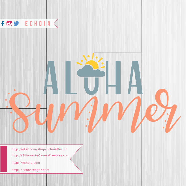 Aloha Summer Hand Lettered Preview