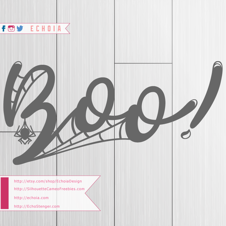 Boo - Hand Lettered Design -SilhouetteCameoFreebies